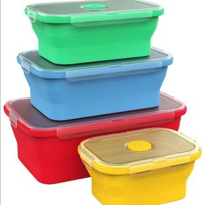 Set of 4 Collapsible Silicone Storage Container